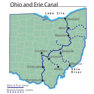 File Ohio And Erie Canal Map Jpg Ohio History Central
