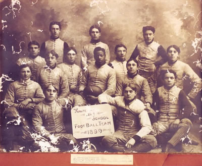 Follis, Charles and the Wooster High School Football Team.jpg