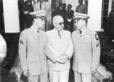 Rosser, Ron with President Harry Truman.jpg