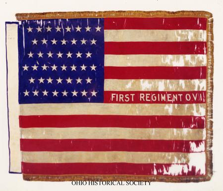 National Colors of the 1st Ohio Infantry Regiment, U.S. Volunteers (National Colors of the 1st O.V.I.jpg