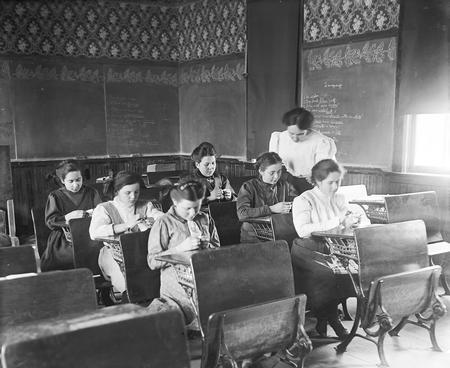 File:Girls Sewing Instruction.jpg