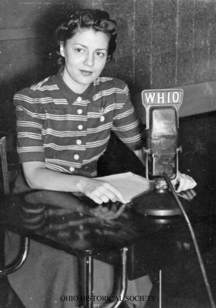 File:Audrey Wilcke Evans at WHIO Radio.jpg