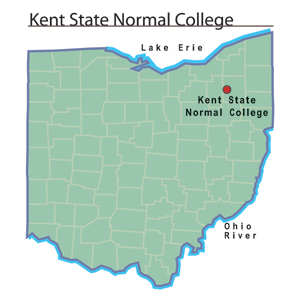 Kent Ohio Map Kent State Normal College   Ohio History Central Kent Ohio Map