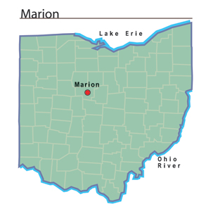 Marion Ohio Map Marion, Ohio   Ohio History Central