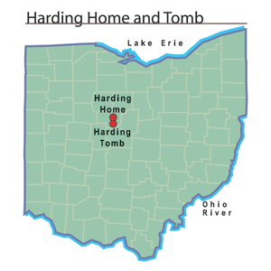 File:Harding Home and Tomb map.jpg