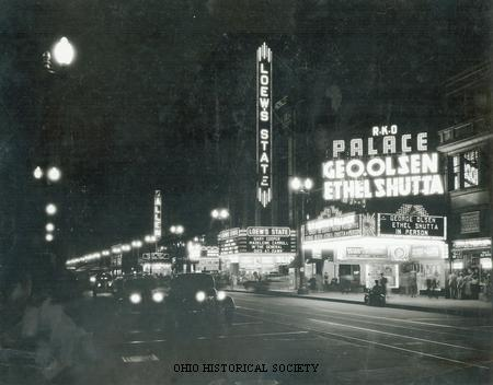 File:Night view of theaters on Euclid Ave, Cleveland, Ohio.jpg