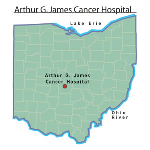 Arthur G. James Cancer Hospital and Richard J. Solove Research Institute map.jpg