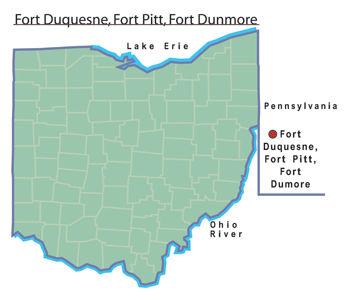 Fort Duquesne, Fort Pitt, and Fort Dunmore.jpg
